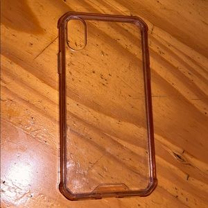 iPhone X Case Clear & Pink